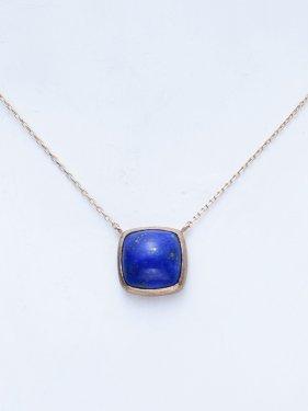 【ラスト1点】K10  tova necklace 〜lapis lazuli〜