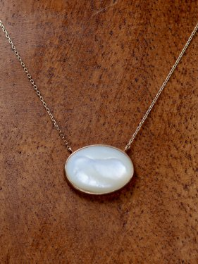 maqusa necklace 〜mother  of pearl〜