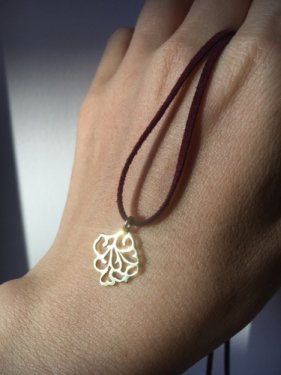 K18 Arabesque pendant top  ~square~