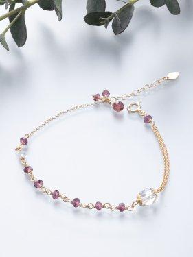 K18 birthdaystone bracelet 〜 1月 garnet〜