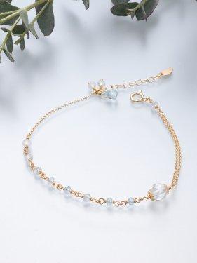 K18 birthdaystone bracelet 〜 3月 aquamarine〜