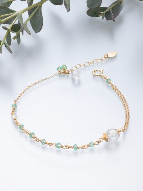 <img class='new_mark_img1' src='//img.shop-pro.jp/img/new/icons14.gif' style='border:none;display:inline;margin:0px;padding:0px;width:auto;' />K18 birthdaystone bracelet 〜 5月 emerald〜