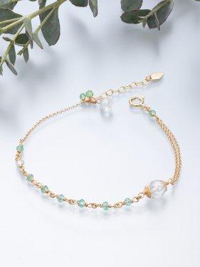 K18 birthdaystone bracelet 〜 5月 emerald〜