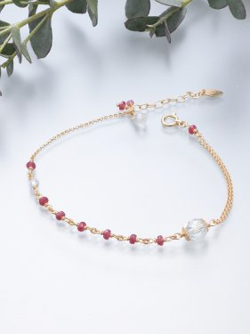 <img class='new_mark_img1' src='//img.shop-pro.jp/img/new/icons14.gif' style='border:none;display:inline;margin:0px;padding:0px;width:auto;' />K18 birthdaystone bracelet 〜7月 Ruby〜