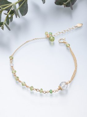 <img class='new_mark_img1' src='//img.shop-pro.jp/img/new/icons14.gif' style='border:none;display:inline;margin:0px;padding:0px;width:auto;' />K18 birthdaystone bracelet 〜 8月 peridot〜
