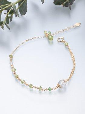 K18 birthdaystone bracelet 〜 8月 peridot〜