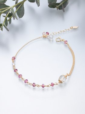 <img class='new_mark_img1' src='//img.shop-pro.jp/img/new/icons14.gif' style='border:none;display:inline;margin:0px;padding:0px;width:auto;' />K18 birthdaystone bracelet 〜10月 pink tourmaline〜