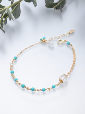 <img class='new_mark_img1' src='//img.shop-pro.jp/img/new/icons14.gif' style='border:none;display:inline;margin:0px;padding:0px;width:auto;' />K18 birthdaystone bracelet 〜12月 turquoise〜