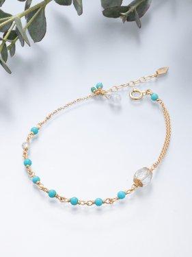 【テレビ衣装】K18 birthdaystone bracelet 〜12月 turquoise〜