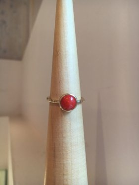 【ラスト1点】K10 Lady buzz Ring ~red coral~