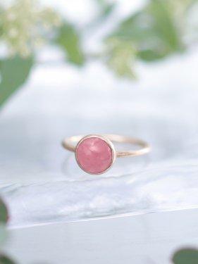 【雑誌掲載】Lady buzz ring ~Inca rose ~(パールオプション有)