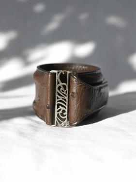 【雑誌掲載】leather bangle 〜brown〜