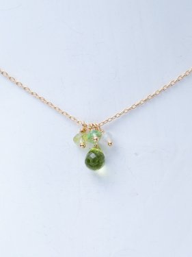 K18 birthdaystone necklace 〜8月peridot〜