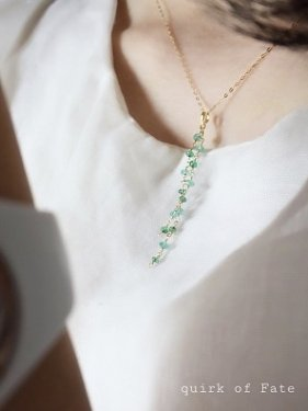 emerald long  pendant top