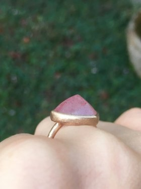 pimi ring(strawberry quartz)