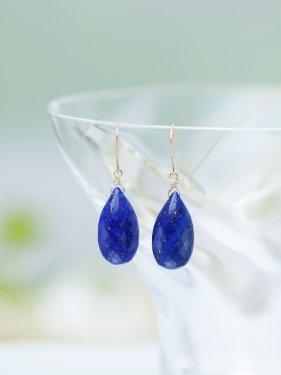 lapis lazuli drop pierce(イヤリング取替可能)