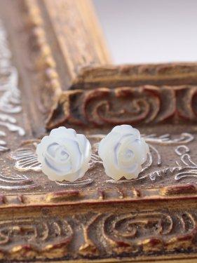 K18  shell rose pierce(L)(イヤリング取替無料)