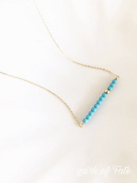 K18 oriental necklace(turquoise)