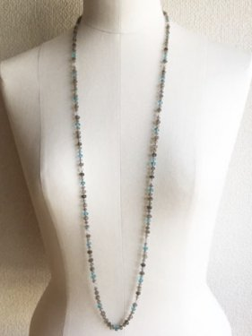 labradorite mix long necklace
