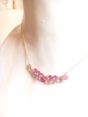 <img class='new_mark_img1' src='//img.shop-pro.jp/img/new/icons53.gif' style='border:none;display:inline;margin:0px;padding:0px;width:auto;' />K18 pink sapphire fringe necklace