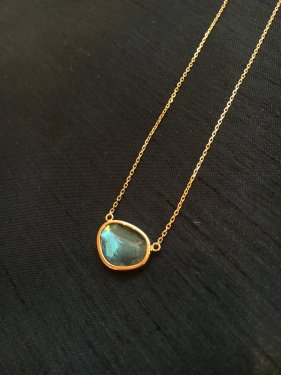 <img class='new_mark_img1' src='//img.shop-pro.jp/img/new/icons14.gif' style='border:none;display:inline;margin:0px;padding:0px;width:auto;' />K18 labradorite necklace  B(pale colour)
