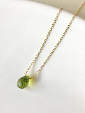 【ラスト1点】K18 peridot necklace