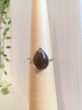 frop ring (smoky quartz)