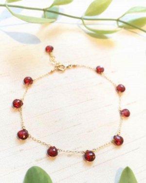 K18 marron fringe bracelet(garnet)