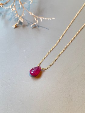 K18 ruby necklace ( L )