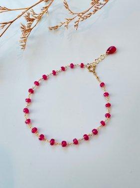 K18 ruby bracelet