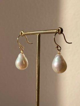 K18 baroque pearl pierce(イヤリング取替可能)