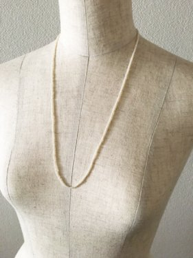 tinyperl short necklace(60cm)