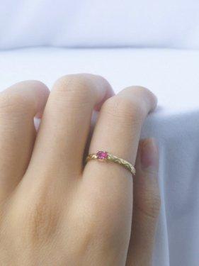 K18 ruby design ring  (S)