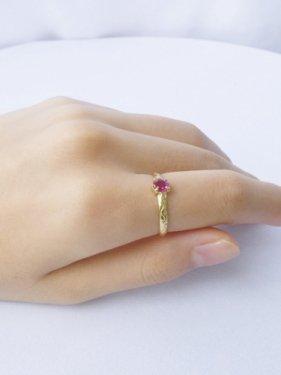 K18 ruby design ring  (L)