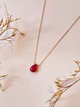 K18 ruby necklace(S)