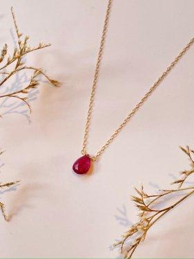 K18 ruby necklace(S)