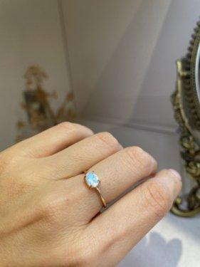 K18 royal blue moonstone  ring (oval)