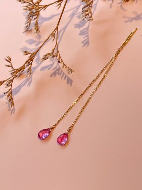 <img class='new_mark_img1' src='https://img.shop-pro.jp/img/new/icons14.gif' style='border:none;display:inline;margin:0px;padding:0px;width:auto;' />K18  pink sapphire  long pierce (イヤリング制作可能 )