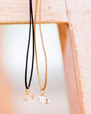 麻紐 harkmer diamond quartz necklace