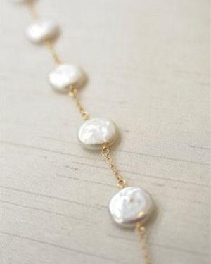 coin pearl short necklace