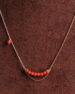 red coral chian necklace
