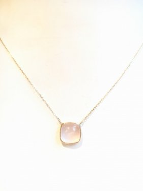 【雑誌掲載】tova necklace 〜rose quartz〜