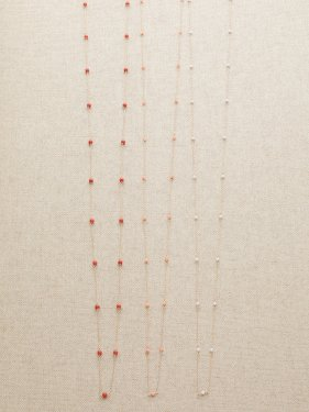 【CM着用】white coral long necklace