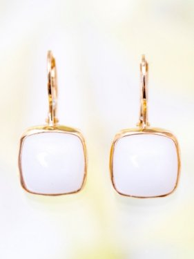 tova pierce〜white chalcedony〜(イヤリング変更可能)