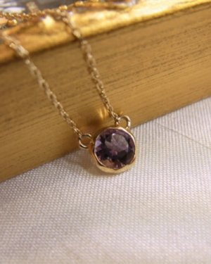 【CM着用】te necklace〜amethyst〜