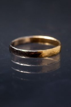 half ring  ( K18 yellow gold& platinum)