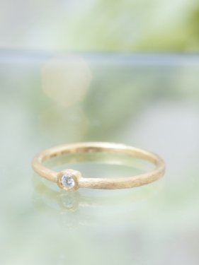 K18 diamond ring