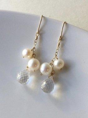 〜Julie〜 pearl fringe pierce(イヤリング取替可能)