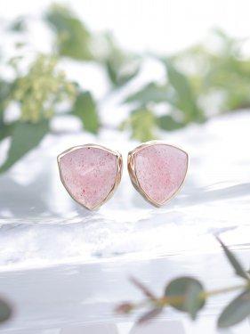 【ドラマ衣装】pimi  pierce 〜strawberry quartz〜(イヤリング変更可能)