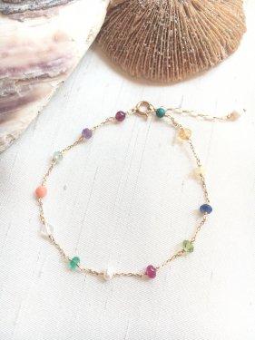 【ラスト1点】12 birthdaystone & coral bracelet